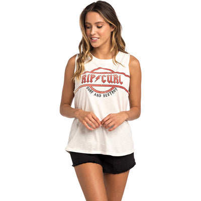 Surf Shop, Surf Clothing, Rip Curl, Surf And Destroy Tank, Tshirt, Sea Salt