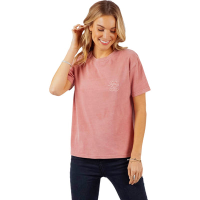 Surf Shop, Surf Clothing, Rip Curl, The Searchers Tee, T-Shirt, Dusty Rose