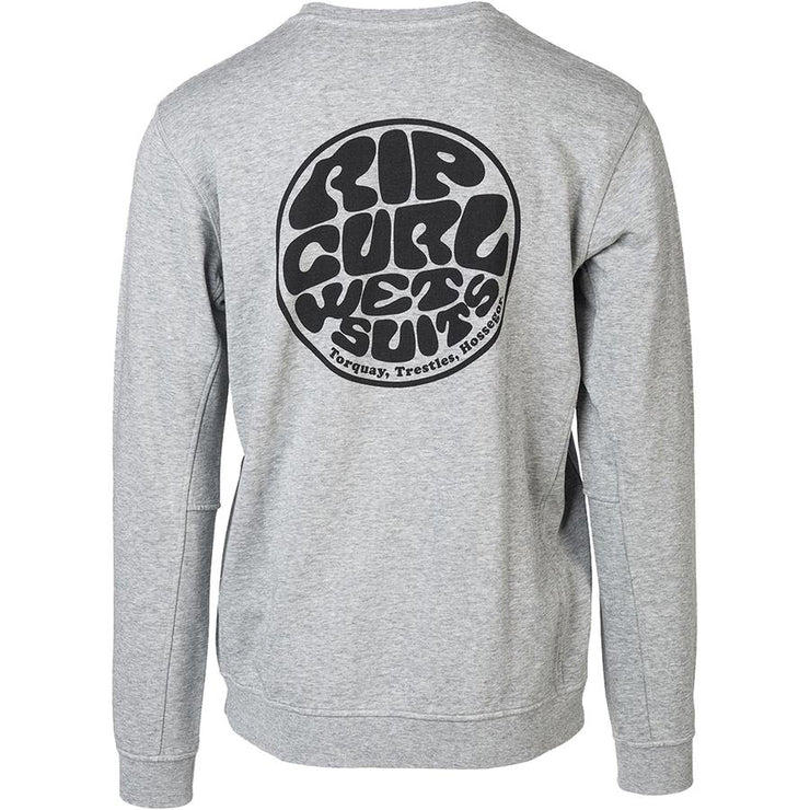 Surf Shop, Surf Clothing, Rip Curl, Wettie Crew, Sweatshirt, Grey