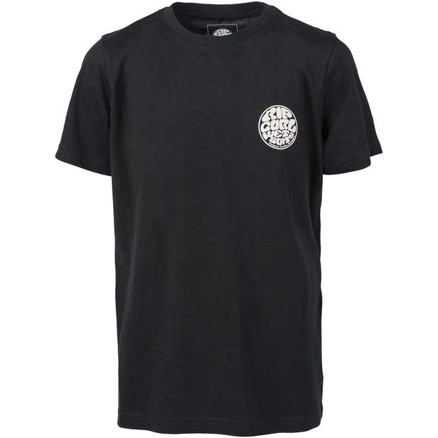 Surf Shop, Surf Clothing, Rip Curl, Wettie Tee, Tshirt, Black