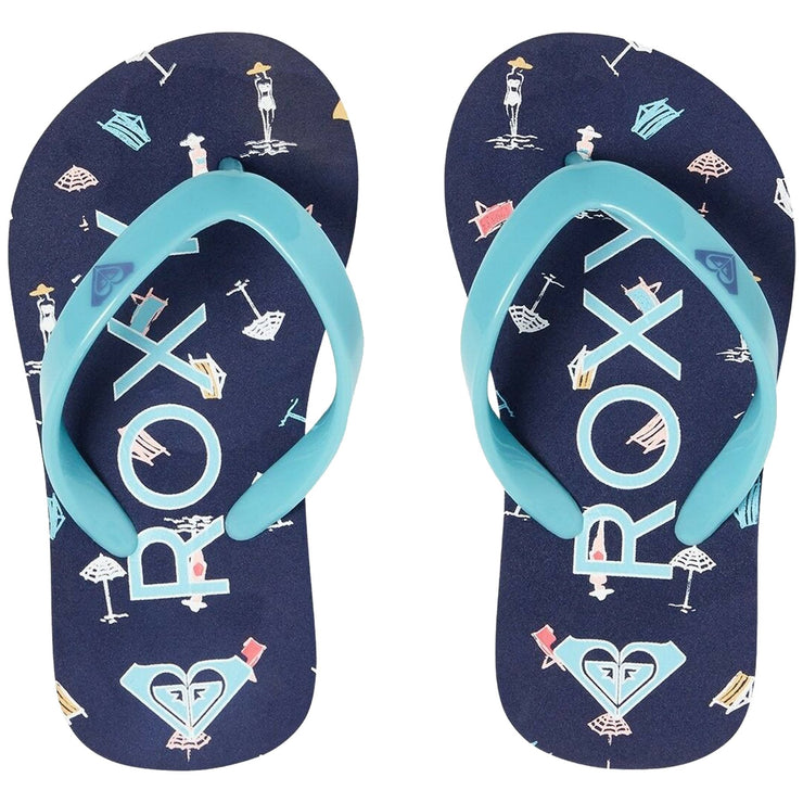 Surf Shop, Surf Clothing, Roxy, Bamboo, Flip Flops, Cobalt