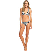 Surf Shop, Surf Clothing, Roxy, Beach Classics Halter Bikini Top, Bikinis, Anthracite Tropicalababa