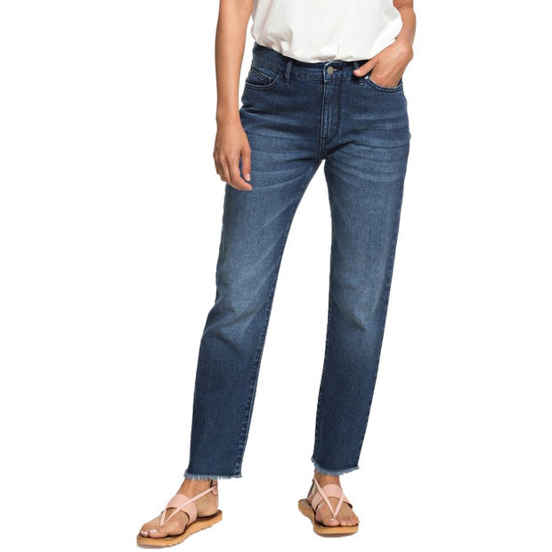 Surf Shop, Surf Clothing, Roxy, Citizen Cosmos Straight Fit Jeans, Pants, Dark Blue