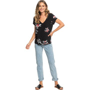 Surf Shop, Surf Clothing, Roxy, City Sights, Tshirt, Anthracite Flower