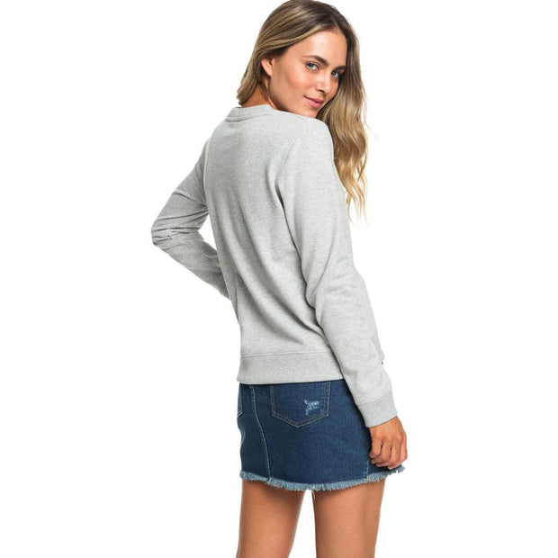 Surf Shop, Surf Clothing, Roxy, Eternally Yours B, Sweatshirt, Heritage Heather