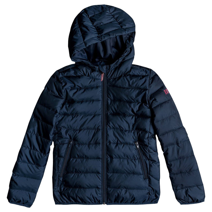 Surf Shop, Surf Clothing, Roxy, Feeling Better Puffer Jacket, Jackets, Dress Blue
