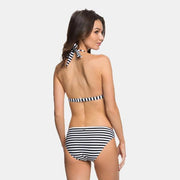 Surf Shop, Surf Clothing, Roxy, Halter Bikini Set, Bikinis, Bright White Basic Stripe