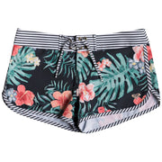 Surf Shop, Surf Clothing, Roxy, Happy Spring Boardshorts, Shorts, Anthracite Hibiscus Twist Swim