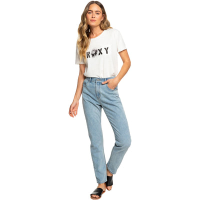Surf Shop, Surf Clothing, Roxy, Leti Mom Fit Jeans, Pants, Retro Light Blue