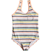 Surf Shop, Surf Clothing, Roxy, Lets Go Surfing One Piece Swimsuit, Bikinis, Salmon Candy Stripes