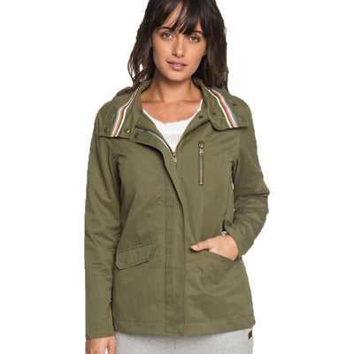 Surf Shop, Surf Clothing, Roxy, Lightning Strike Jacket, Jackets, Burnt Olive
