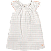 Surf Shop, Surf Clothing, Roxy, Mising You Short Sleeve Dress, Dresses, Marshmallow Rainbow Stripe