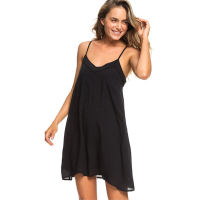 Surf Shop, Surf Clothing, Roxy, Off We Go Strappy Dress, Dresses, True Black