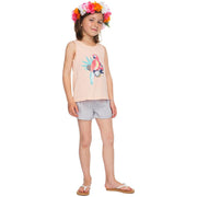 Surf Shop, Surf Clothing, Roxy, Peaceful Light The Parrot, Vest, Tropical Peach