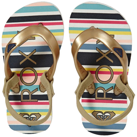 Surf Shop, Surf Clothing, Roxy, Tahiti VI, Flip Flops, Gold