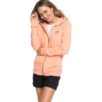 Surf Shop, Surf Clothing, Roxy, Take Me Back Hoodie, Hoodies, Salmon
