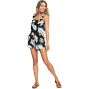 Surf Shop, Surf Clothing, Roxy, Temple Of Tropics Strappy Playsuit, Dresses, Anthracite Tropical Love