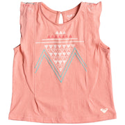Surf Shop, Surf Clothing, Roxy, Toothpaste Kisses Zigzag Vest Top, Tshirt, Candlelight Peach