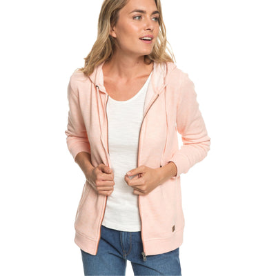 Surf Shop, Surf Clothing, Roxy, Trippin Zip Up Hoodie, Hoodies, Salmon Heather