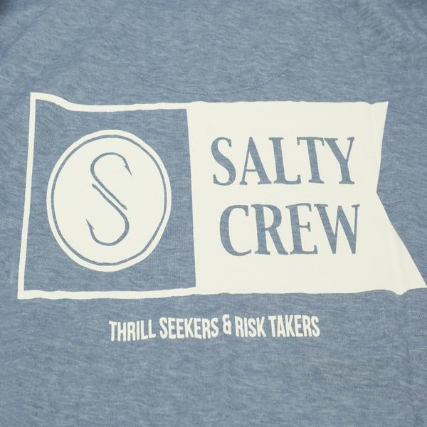 Surf Shop, Surf Clothing, Salty Crew, Alpha Tech LS Tee, Tshirt, Blue