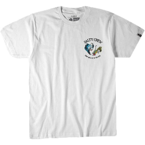 Surf Shop, Surf Clothing, Salty Crew, Dinner Bell Tee, Tshirt, White