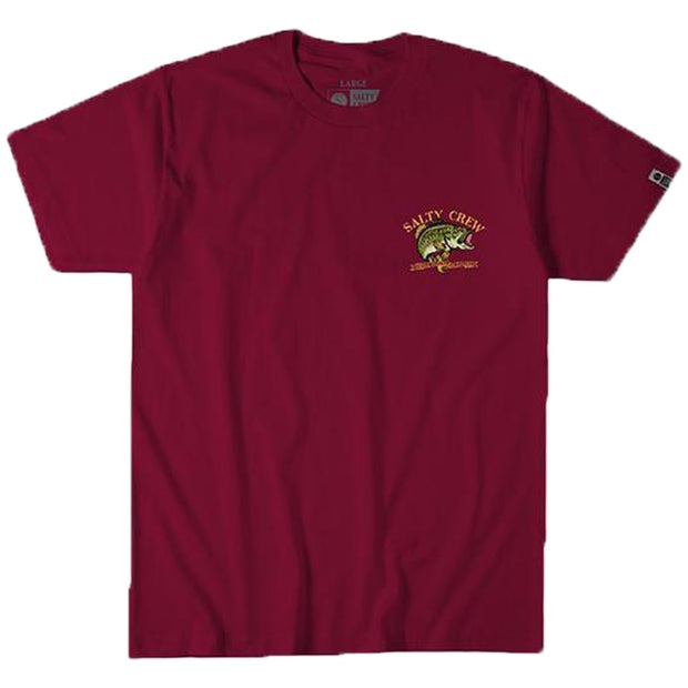 Surf Shop, Surf Clothing, Salty Crew, Large Mouth Tee, Tshirt, Burgundy