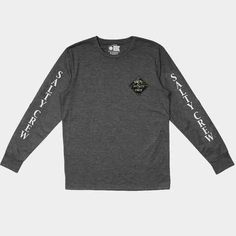 Surf Shop, Surf Clothing, Salty Crew, Tippet Camo Tech LS Tee, Tshirt, Charcoal