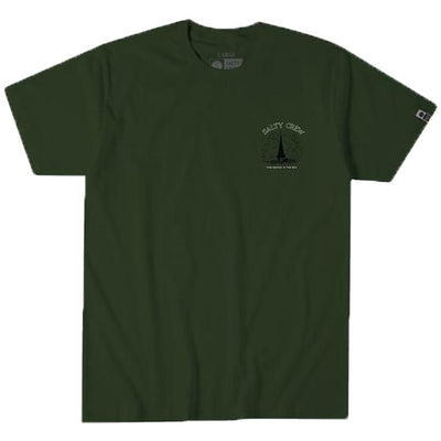 Surf Shop, Surf Clothing, Salty Crew, West Winds Tee, Tshirt, Military Green
