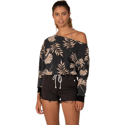Surf Shop, Surf Clothing, Sisstr Evolution, Palms Away Pullover, Sweatshirt, Black