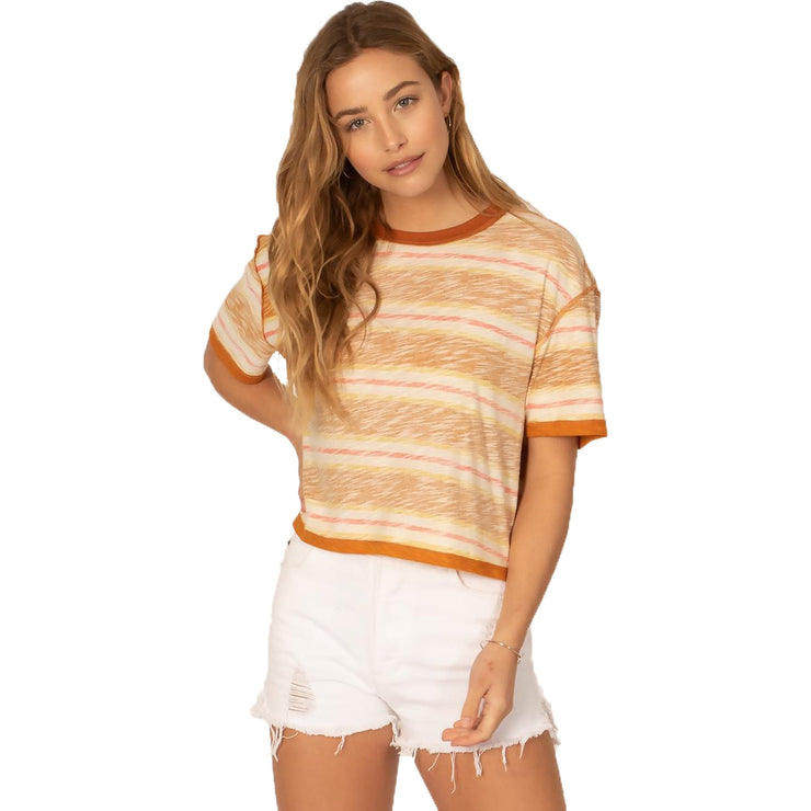 Surf Shop, Surf Clothing, Sisstr Evolution, Runnin The Halls Short Sleeve Knit, Tshirt, Copper