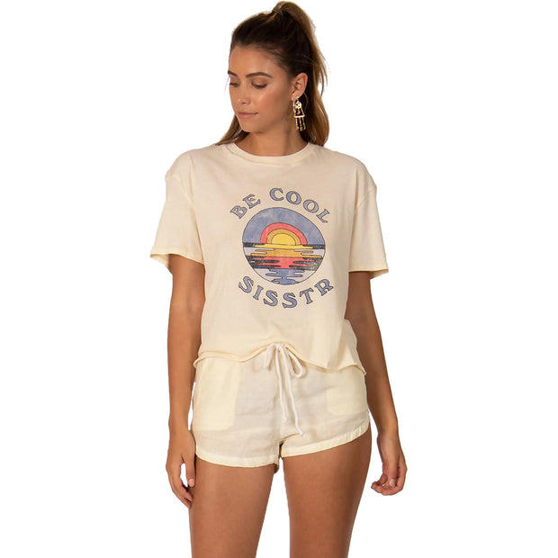 Surf Shop, Surf Clothing, Sisstr Revolution, Be Cool Crop Top, Tshirt, Sand