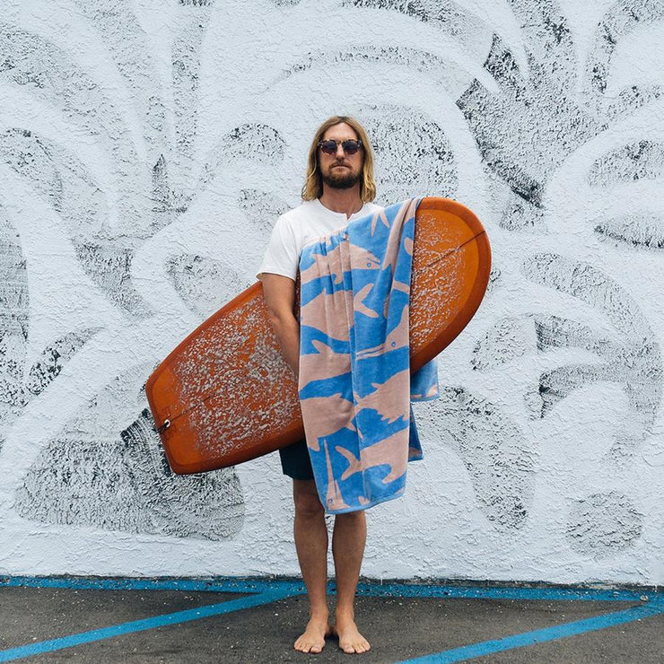 Surf Shop, Surf Clothing, Slowtide, Sea Life, Towel, Ocean Blue