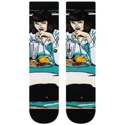 Surf Shop, Surf Clothing, Stance, Foundation Womens Mia Booth Crew Socks, Socks, Black