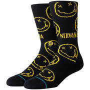 Surf Shop, Surf Clothing, Stance, Nirvana Face, Socks, Black