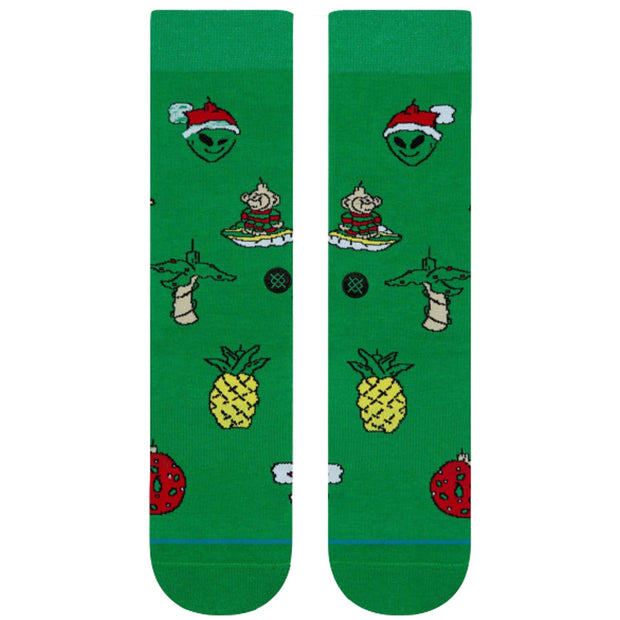 Surf Shop, Surf Clothing, Stance, Xmas Ornaments, Socks, Green