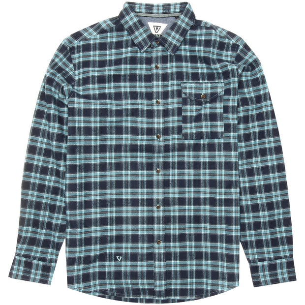 Surf Shop, Surf Clothing, Vissla, Boys Central Coast Flannel, Flannel, Shirts, Dark Jade