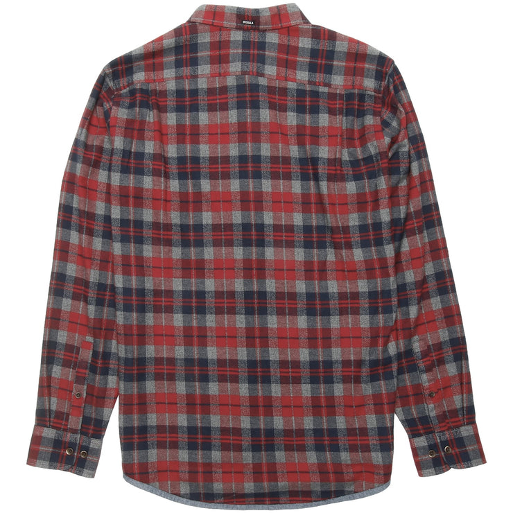 Surf Shop, Surf Clothing, Vissla, Central Coast Flannel, Shirts, Red