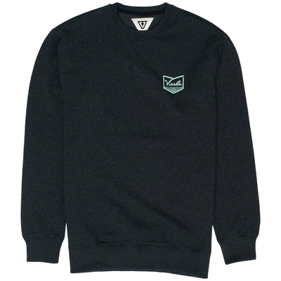 Surf Shop, Surf Clothing, Vissla, Defender Upcycled Crew, Sweatshirts, Black Heather