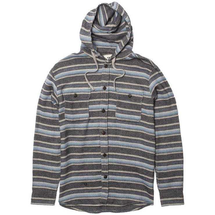 Surf Shop, Surf Clothing, Vissla, Pumphouse Hooded Flannel, Hoodies, Navy