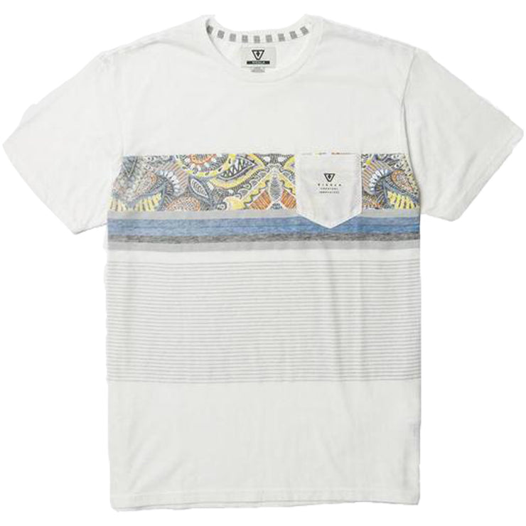 Surf Shop, Surf Clothing, Vissla, Shark Alley Knit T Shirt, Tshirts, Vintage White Heather