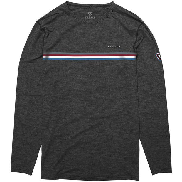 Surf Shop, Surf Clothing, Vissla, The Trip LS Surf Tee, Tshirt, Black Heather