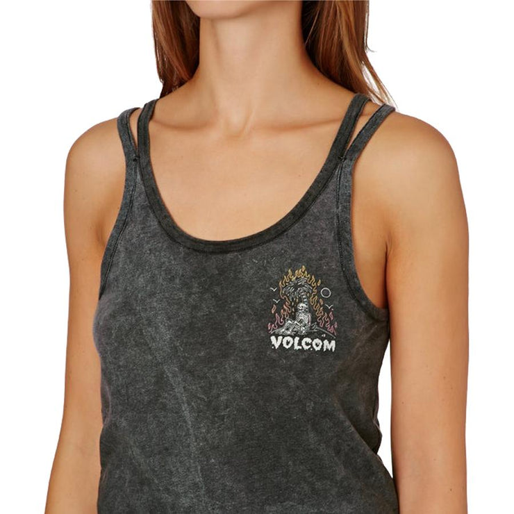 Surf Shop, Surf Clothing, Volcom, Above All Split Tank, Tshirt, Black