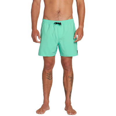 "Surf Shop, Surf Clothing, Volcom, Lido Trunks 16"", Shorts, Ice Green"