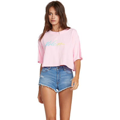 Surf Shop, Surf Clothing, Volcom, Neon And On Tee, Tshirt, Neon Pink