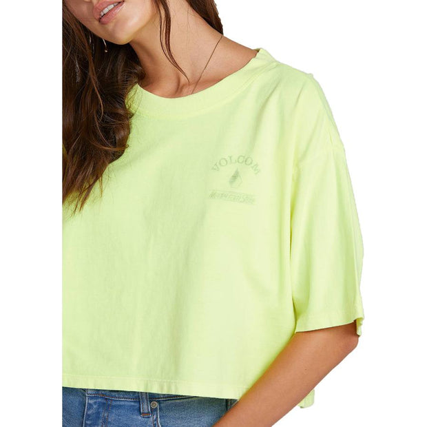 Surf Shop, Surf Clothing, Volcom, Neon And On Tee, Tshirt, Neon Yellow