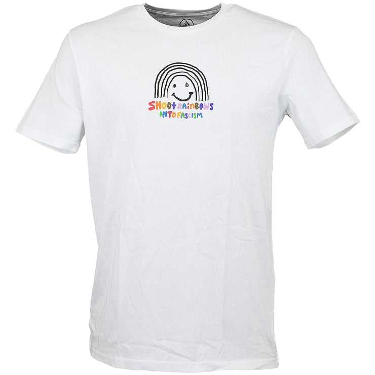 Surf Shop, Surf Clothing, Volcom, Ozzy Rainbow BSC, Tshirt, White