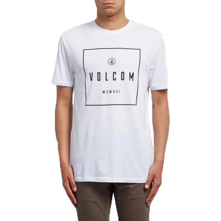 Surf Shop, Surf Clothing, Volcom, Scribe DD SS, Tshirt, White
