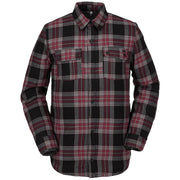 Surf Shop, Surf Clothing, Volcom, Sherpa Flannel Jacket, Jackets, Red