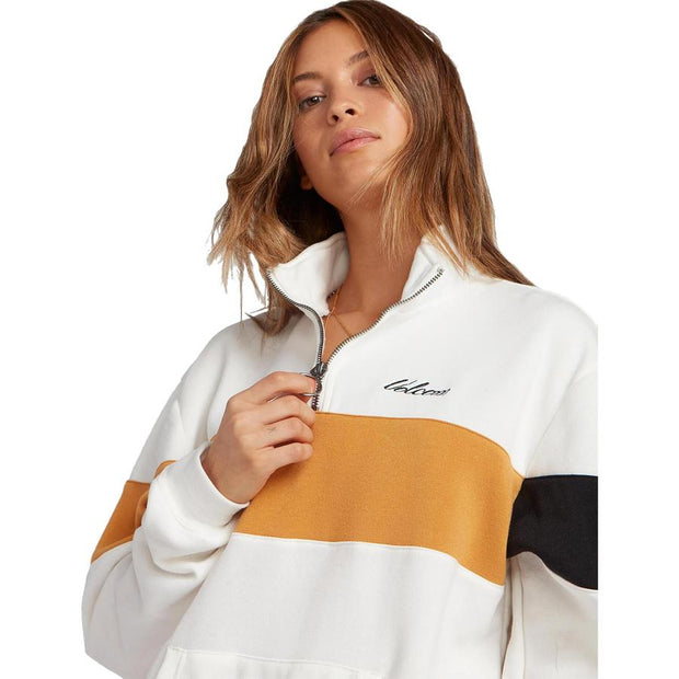 Surf Shop, Surf Clothing, Volcom, Short Taxx Pullover, Sweatshirt, Star White
