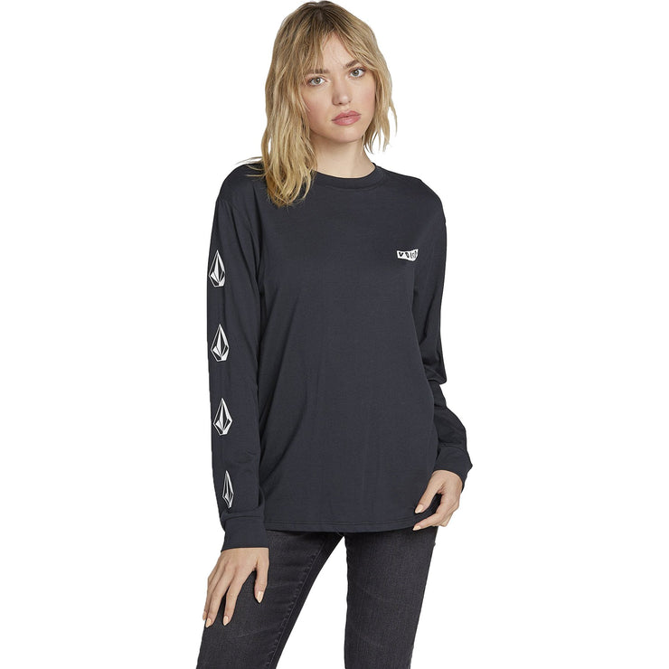 Surf Shop, Surf Clothing, Volcom, Simply Stoned LS, T-Shirt, Black